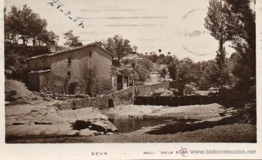 El molí del Sors en una imatge antiga